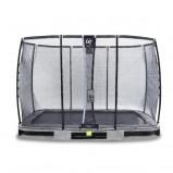 Bilde av EXIT Elegant bakketrampoline 214x366cm med Deluxe sikkerhetsnett grå