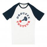 Afbeelding van Cheaque Drouffe Touteur Shirt Heren Navy White Raglan S