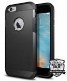 Abbildung von Apple iPhone 6 / 6s Hülle Silikon Spigen® Extreme Case Schwarz