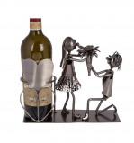 Afbeelding van Out of the Blue wijnstandaard metaal liefdes koppel
