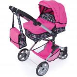Afbeelding van Bayer poppenwagen Neo Pro roze 72 cm