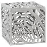Afbeelding van ALTEREGO Bijzettafel 'LABA' in gepolijst aluminium