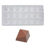 Afbeelding van Bonbonvorm Chocolate World Diagonaal (21x) 28x28x17,5 mm