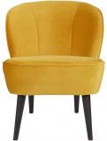 Afbeelding van Woood fauteuil Sara velours