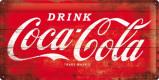 Afbeelding van Coca Cola Logo Rood Metalen Wandplaat 50x25cm Wandplaten