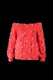Image de FSTVL by MS Mode Mesdames Haut à épaules dénudées Rouge