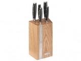 Afbeelding van Diamant Sabatier Integra Messenblok 5 Delig Naturel Eiken