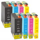 Afbeelding van Geschikt 2x Epson 27XL (T2715) Voordeelbundel (inktcartridges) Alleeninkt
