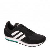 Afbeelding van adidas 8K leren sneakers zwart/wit