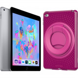 Afbeelding van Apple iPad (2018) 32 GB Wifi + Tech21 Evo Play2 Back Cover Roze