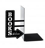 Afbeelding van Balvi boekensteun The bookshop zwart metaal