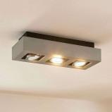 Afbeelding van 3 lamps plafondlamp Vince, Lampenwelt.com, voor hal, aluminium, GU10, 5 W, energie efficiëntie: A++, L: 36 cm, B: 14 H: 8.5 cm