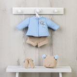 Billede af ASI Koke Dukketøj Termojakke, strikkede bukser, hue og sokker