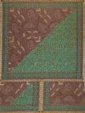 Zdjęcie Vlisco VL00006.141.04 Brown/Green African print fabric Wax Hollandais Decorative
