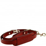 Imagine din Adjustable leather shoulder strap Red