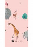Image of KEK Behang Animal mix, pink WP 132 (Met Gratis Lijm)