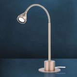 Afbeelding van Busch led tafellamp MINI flexibel universeelwitte arm, voor woon / eetkamer, metaal, 2.5 W, energie efficiëntie: A+, H: 25 cm