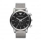 Afbeelding van Armani AR1808 Luigi XLarge horloge herenhorloge Zilverkleur