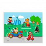 Afbeelding van Not specified Studio 100 houten vormenpuzzel Bumba voertuigen 5 stukjes