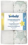 Afbeelding van Biobaby Moltondoek Sterren Mint 80x75cm