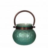 Afbeelding van Casa vivante kito waxinehouder groen h11 x d13 cm