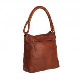 Imagem de Chesterfield Leather Shoulder Bag Cognac Black Label Ellen