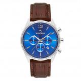 Afbeelding van Mats Meier Grand Cornier chronograaf heren horloge blauw/bruin