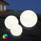Afbeelding van 8 Seasons LED buiten sfeerlamp Shining Globe 30 cm, polyethyleen, energie efficiëntie: A