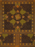 Imagine din Vlisco VL00052.139.04 Brown African print fabric Wax Hollandais Decorative