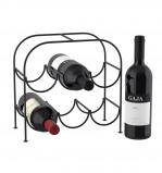 Afbeelding van Balvi wijnrek Reserve voor 6 flessen zwart metaal