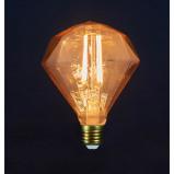 Afbeelding van Anna's Collection 2 stuks Led retro lamp diamant 110x148mm 2w/e27