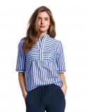 Abbildung von LaDress Aletta baumwolle bluse blauprintweiß