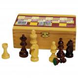 Afbeelding van Abbey Game schaakstukken 87 mm zwart/wit 49CL