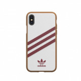 Afbeelding van adidas OR Moulded case PU SS19 for iPhone X/Xs white/collegiate burgundy