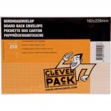Afbeelding van Cleverpack bordrugenveloppen, ft 162 x 229 mm, met stripsluiting, w...