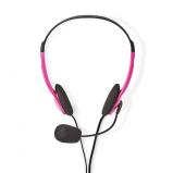 Afbeelding van Alpexe Basicxl Bxl headset1 pi Draagbare Stereo Headset Roze
