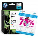 Afbeelding van HP 302 Ink cartridge Combo pack (X4D37AE)