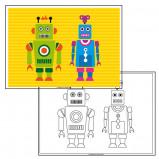 Afbeelding van Kleurplaat Robot