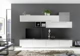 Afbeelding van Benvenuto Design Bex TV wandmeubel 16 Wit / Beton