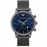 Afbeelding van Armani herenhorloge AR1979 horloge Blauw,Grijs,Zilverkleur