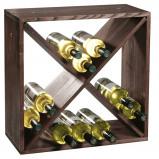 Afbeelding van Merkloos FSC® Houten Wijnflessen legbordsysteem voor 20 wijn flessen