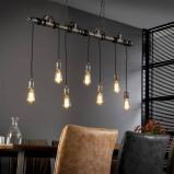 Afbeelding van Fabrieks hanglamp buis Jase 7 lichts