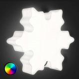 Afbeelding van 8 Seasons decoratielamp voor buiten LED Shining Crystal, polyethyleen, energie efficiëntie: A, B: 60 cm, H: 52 cm