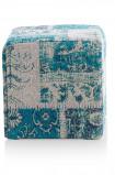 Afbeelding van Coco maison poef royal patchwork groen 40x40cm