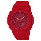 Afbeelding van Casio G Shock GA 2100 4AER Rood horloge herenhorloge