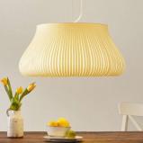 Afbeelding van ACB ILUMINACIÓN hanglamp Nanok met 1 lampje, voor woon / eetkamer, textiel, acryl, metaal, E27, 20 W, energie efficiëntie: A++