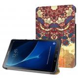 Afbeelding van 3 Vouw vintage bloem stand flip hoes Samsung Galaxy Tab A 10.1 inch (2016)