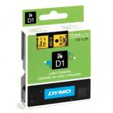 Billede af Dymo S0720580 standardtape D1 sort på gul 12mm x 7m Dymo 45018 original