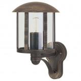 Afbeelding van Albert Leuchten genefe buitenwandlamp in landhuisstijl bruin, gegoten aluminium, acrylglas, E27, 75 W, energie efficiëntie: A++, H: 35 cm