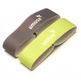 Afbeelding van Amuse elastiek voor broodtrommel 15,5 cm groen/grijs 2 stuks